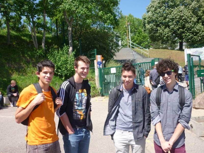 Clément-Mathieu, Guillaume, Sébastien et Thomas