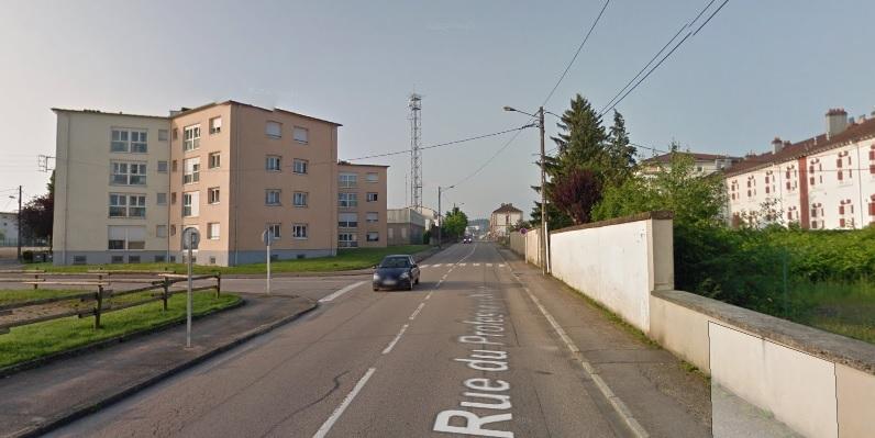 Rue du Professeur Roux, Epinal (crédit Google map)
