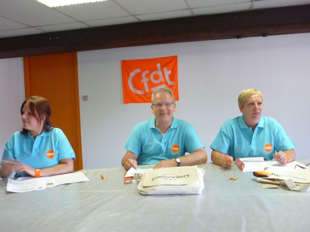 Elodie Grodidier CFDT Vosges, Stéphane Vannson, CFDT Lorraine et Claudine Bernard CFDT service 88 et 57