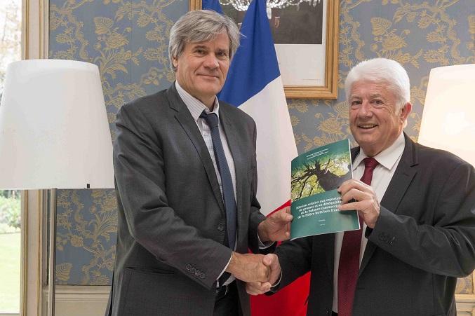 Remise du rapport de Christian FRANQUEVILLE, député des Vosges, sur les exportations de grumes et le déséquilibre de la balance commerciale de la filière forêt bois française.