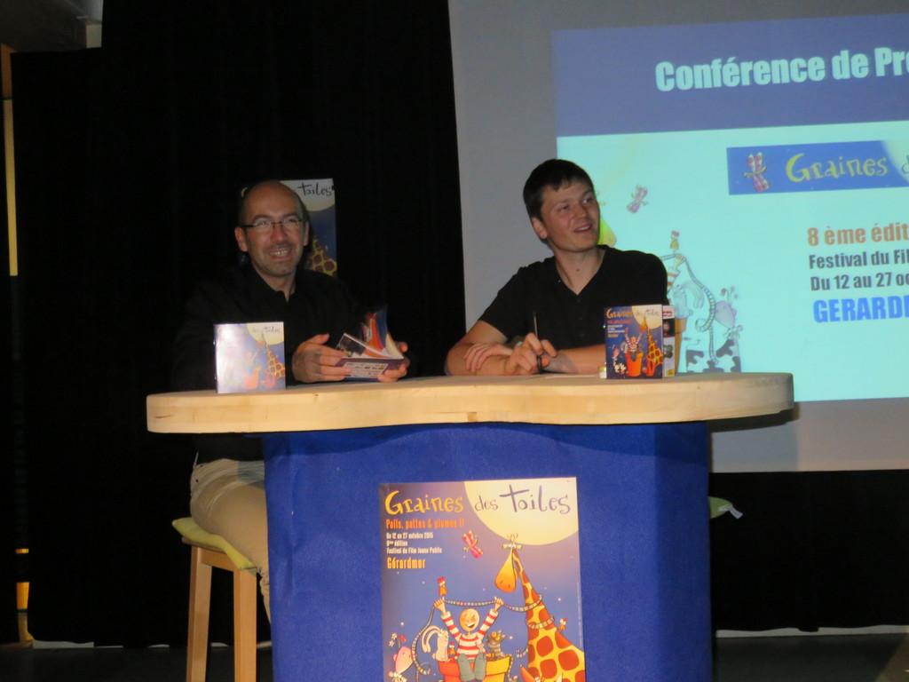 Le directeur de la MCL Stéphane Lepoil et le responsbale de la commission cinéma Loïc Moresi ont présenté cette 8éme édition