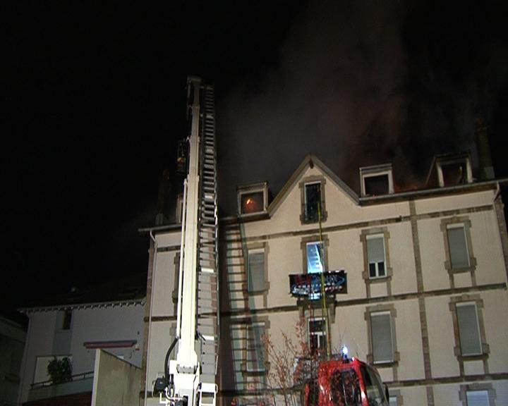 Incendie Rue d'Alsace à Epinal