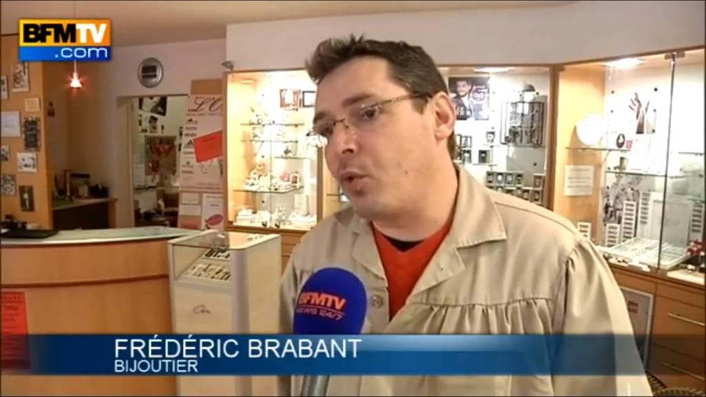 (Crédit image : BFM TV) Frédéric Brabant, maître-artisan bijoutier à Bruyères