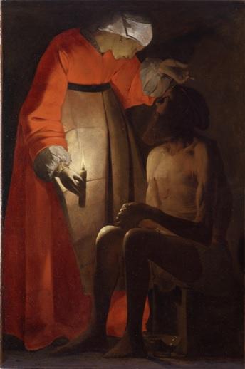 Georges de LA TOUR - Job raillé par sa femme (c) MDAAC Epinal, cliché B Prud'homme