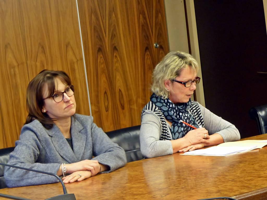 Ghyslaine Jeandel-Ballongue et Marie-Christine Klopp
