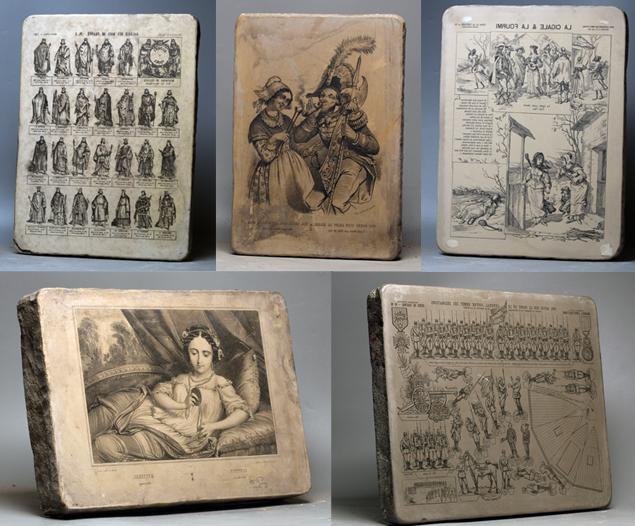 Pierres lithographiques du XIXe siècle