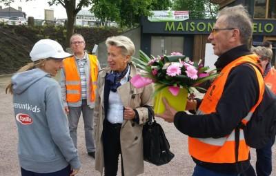 Ivana félicitée