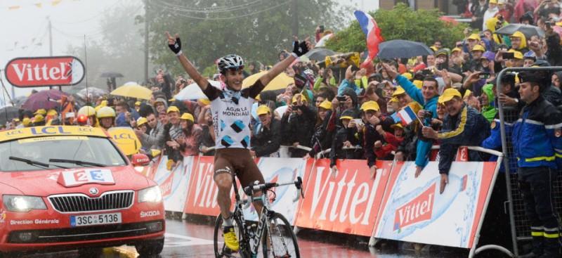 L'arrivée du Tour de France à Gérardmer en 2014.