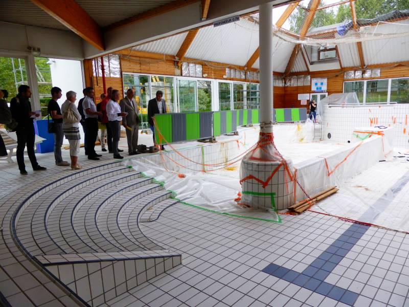 Les travaux de la piscine olympique se poursuivent jusuq for Piscine olympique