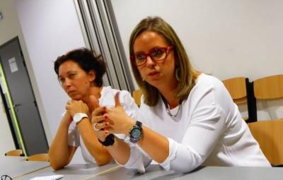 Manuela Burollet, directrice adjointe et Emilie Claudel, directrice