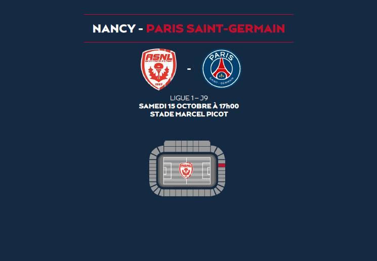 vosges football un bus pour le match nancy paris saint germain epinal infos. Black Bedroom Furniture Sets. Home Design Ideas