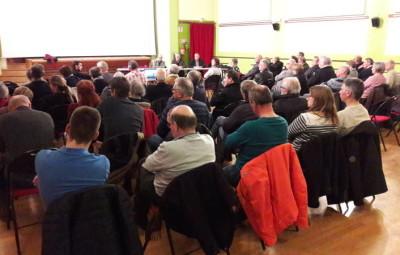 De nombreuses personnes se sont déplacées pour assister à la dernière restitution à Bruyères