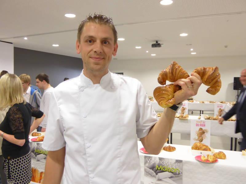 Matthieu Hocquaux du Val d'Ajol, remporte le prix du meilleur croissant vosgien