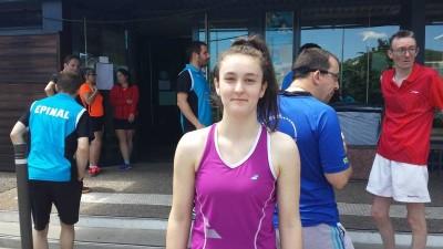 Emilie Vercelot badminton