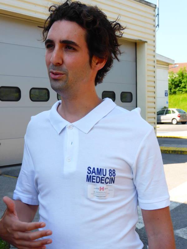 le Dr François-Xavier Moronval, médecin praticien hospitalier référent SSE, situations sanitaires exceptionnelles