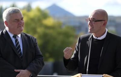 Eric Straumann et Frédéric Bierry, Présidents des Conseils Départementaux du Haut-Rhin et du Bas-Rhin.