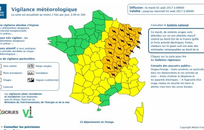 (carte Météo France)