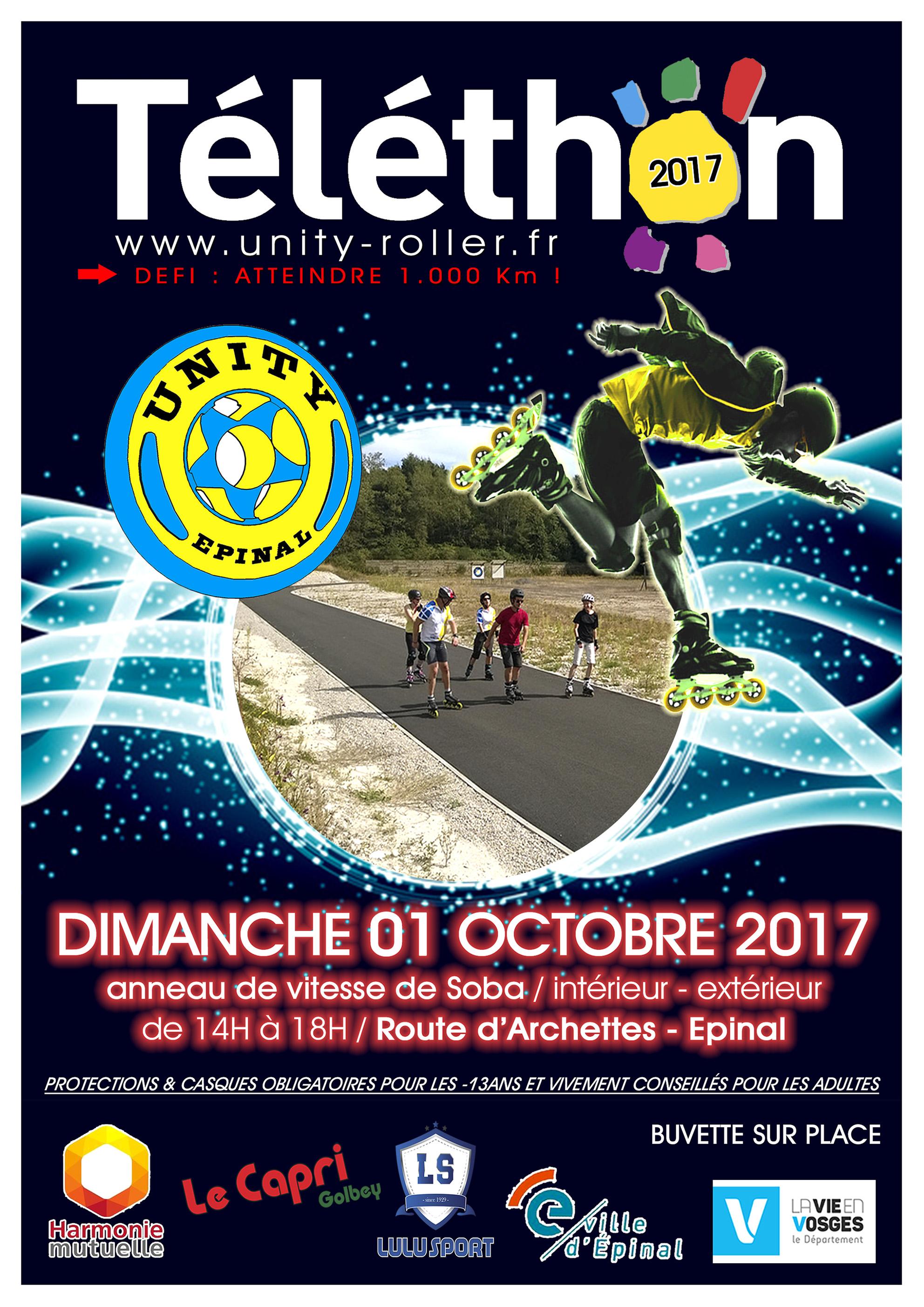 Affiche Téléthon Unity Roller2017