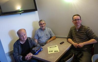 Pierre-Olivier Poyard du Mouvement pour la Paix, Pascal Lopez et Pierre Mauffrey du PCF