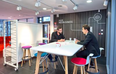 néobusiness coworking espace dédié aux start-ups et entreprises au centre d'affaires d'Epinal (photographie d'archives)