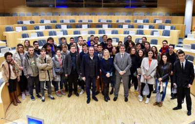 Rencontre du Conseil régional des jeunes Grand Est et de PACA (Crédit photographique Stadler, RGE)