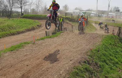 Moto cross en action