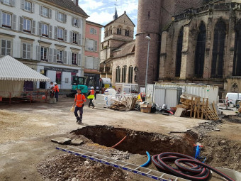 travaux place