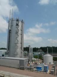 (photo Norske Skog Golbey) Unité biogaz