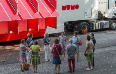 Visite du MuMo2 par les élus. Photo : Klaus Stöber (Atelier Stöber)