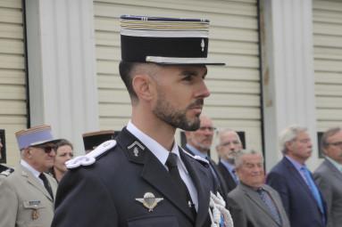 La cérémonie de prise de commandement du Lieutenant-colonel Brice Mangou