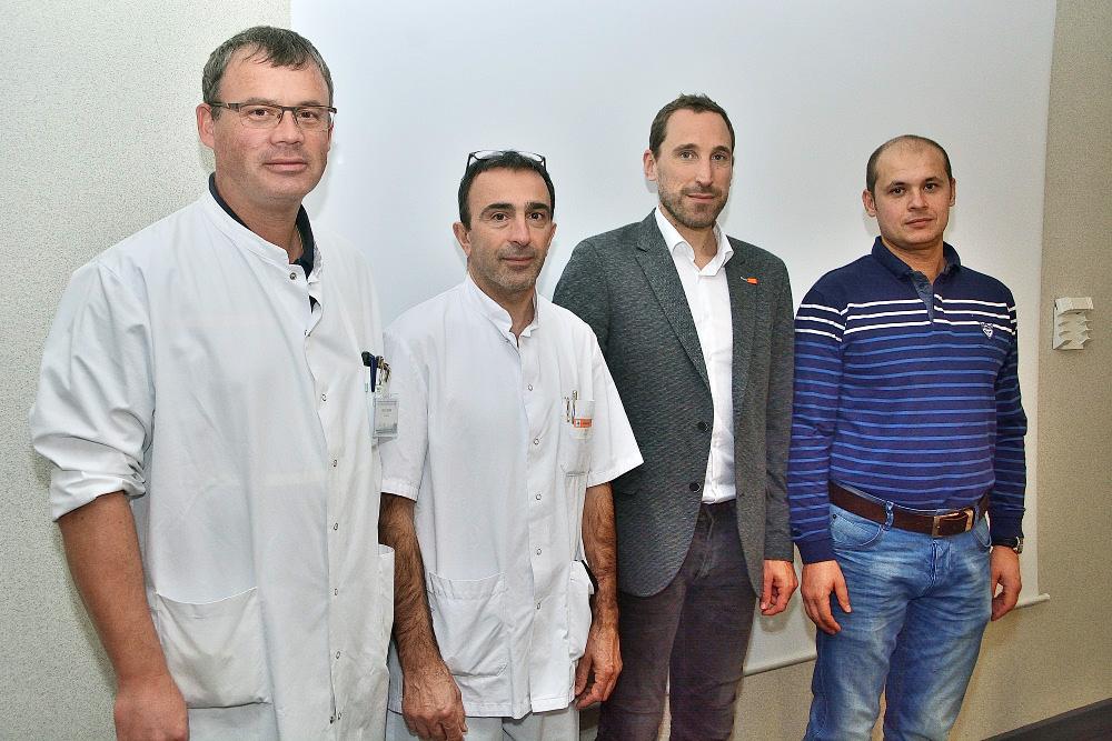 De gauche à droite : le Dr Marc Ulmer, le Dr Pascal Mattei, le Dr Thibaut Fouquet, le Dr Sebastian Ionica.