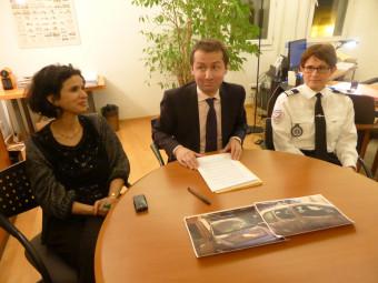 Zahra Anseur, substitut du procureur, Nicolas Heitz, procureur de la République, et le commandant de police Marie-Hélène Villaume