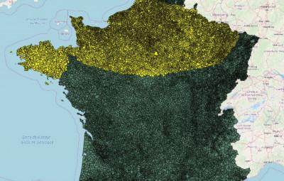 ANFR, En jaune, la zone la plus susceptible d'être impactée