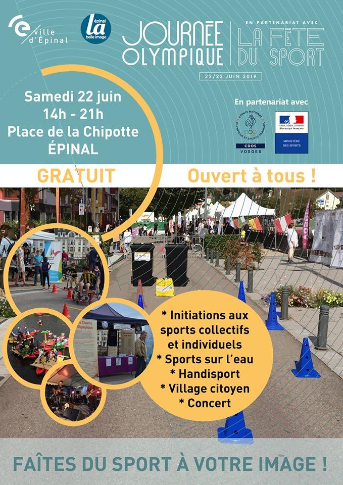 2ème Édition de « La Journée Olympique en partenariat avec la Fête du sport »