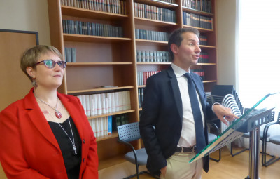 Le procureur de la République, Nicolas Heitz, et la substitut Delphine Humbert, chargée du dossier