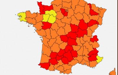 carte Réseau National de Surveillance Aérobiologique (RNSA)