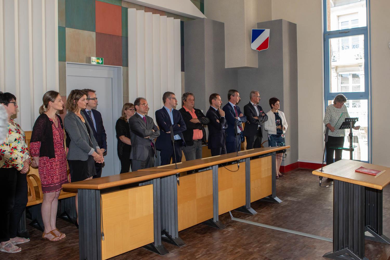 Inauguration de l'espace judiciaire Julie-Victoire Daubié à Epinal