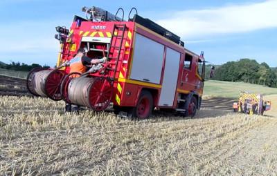 Incendie de champs Laveline du Houx