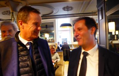Nicolas Dupont-Aignan, le président de Debout la France et Pierre-Jean-Robinot (photo d'archives)