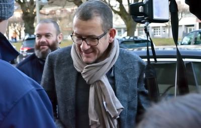 Dany Boon lors de sa précédente venue à Saint-Dié-des-Vosges, en janvier 2018. (Photographie d'archives)