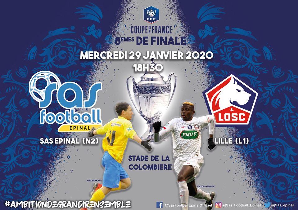 Le match SAS Football-LOSC se jouera bien à la Colombière