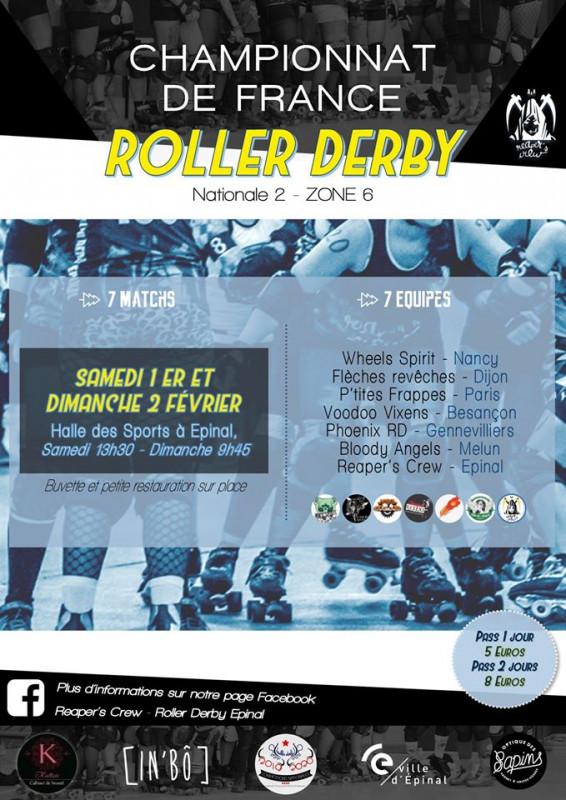 Affiche_Championnat Roller Derby