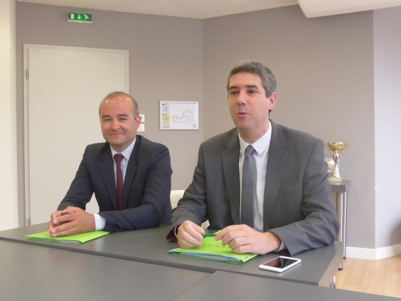 Maître Ludovic Vial et Maître Cyrille Gauthier (photo d'archives)