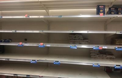Les rayons d'un supermarché à Epinal photos C.C.