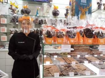 Céline Claudel, vendeuse à la chocolaterie Thil Epinal