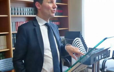 Le procureur de la République d'Epinal, Nicolas Heitz