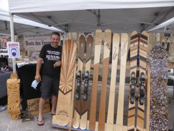 Nicolas Roux, crée des skis et planches en bois vosgien