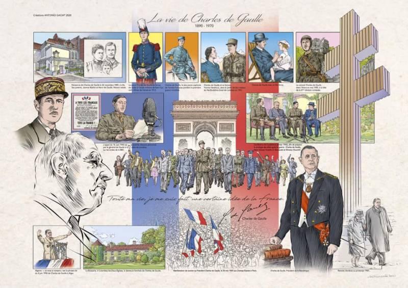 50e anniversaire de la disparition du Général de Gaulle-antonio-gacia