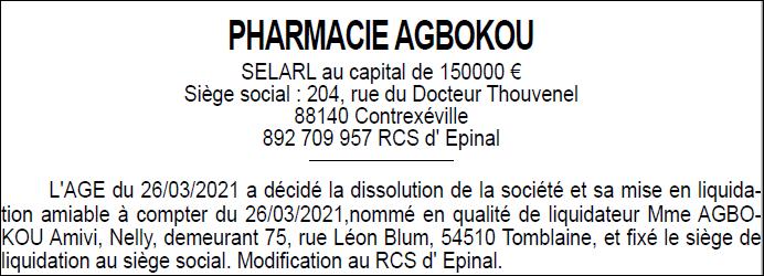 pharmacie agbokou