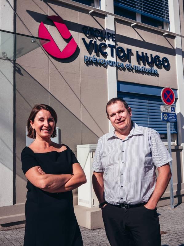 Jérôme LUSIER, Président du Groupe Victor Hugo et de Madame Sophie VERCRUYSSE, Directrice Générale du Groupe Victor Hugo.